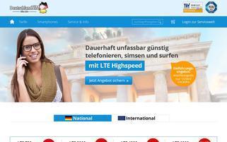 DeutschlandSIM Webseiten Screenshot