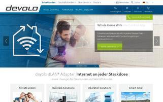 devolo Webseiten Screenshot