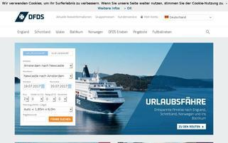 DFDS Webseiten Screenshot