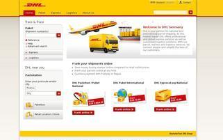 DHL Webseiten Screenshot