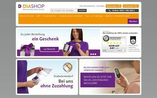 DiaShop Webseiten Screenshot