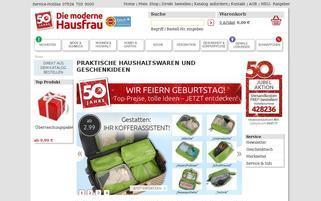 Die moderne Hausfrau Webseiten Screenshot