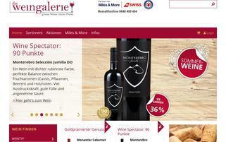 die-weingalerie.ch Webseiten Screenshot