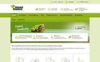 dieumweltdruckerei.de Webseiten Screenshot