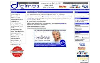 Digimas Webseiten Screenshot