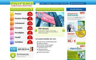 digiprinz.eu Webseiten Screenshot