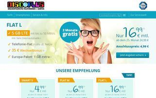 discoPLUS Webseiten Screenshot