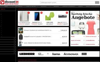 Discount24 Webseiten Screenshot