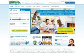 Discounter Strom Webseiten Screenshot