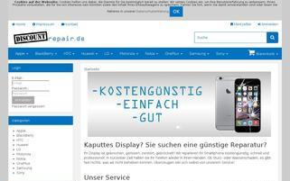 discountrepair.de Webseiten Screenshot