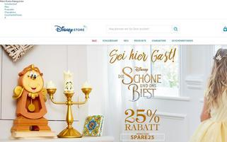 Disney Store Webseiten Screenshot