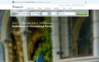 Disneyland Paris Webseiten Screenshot