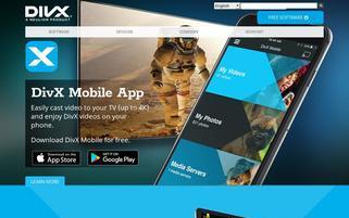 DivX Webseiten Screenshot