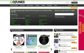 DJTUNES Webseiten Screenshot