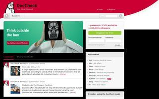 DocCheck Webseiten Screenshot
