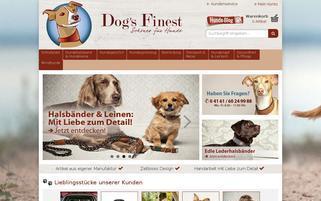 Dog's Finest Webseiten Screenshot