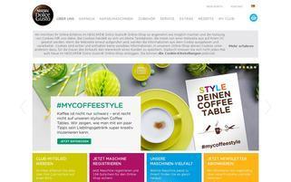 Dolce Gusto Webseiten Screenshot
