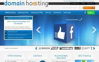 Domain Hosting Webseiten Screenshot