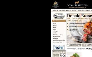 Donald Russell Webseiten Screenshot