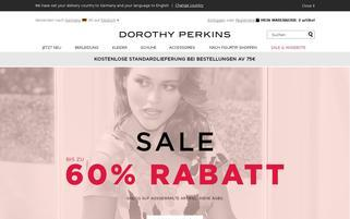 Dorothy Perkins Webseiten Screenshot