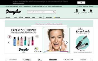 Douglas Schweiz Webseiten Screenshot