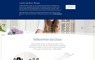 Dove Webseiten Screenshot