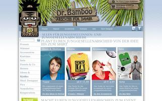 Dr. Bamboo Webseiten Screenshot