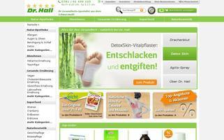 Dr Hall Webseiten Screenshot