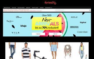 dress-for-less Webseiten Screenshot
