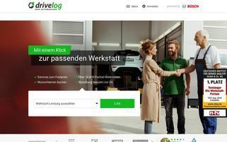 Drivelog Webseiten Screenshot