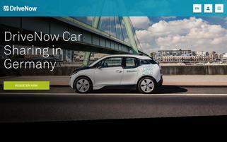 DriveNow Webseiten Screenshot