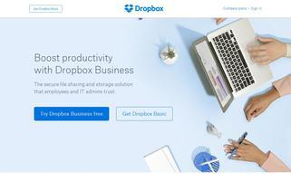 Dropbox Webseiten Screenshot