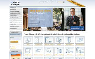 druck-konzepte Webseiten Screenshot