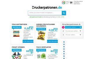 Druckerpatronen.de Webseiten Screenshot