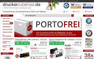 Druckerzubehoer Webseiten Screenshot