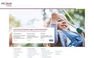 DSL Bank Webseiten Screenshot