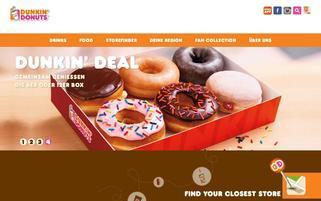 Dunkin Donuts Webseiten Screenshot