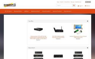 DVBSHOP Webseiten Screenshot