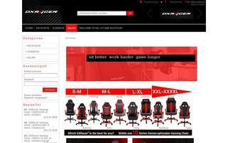 DXRacer Webseiten Screenshot