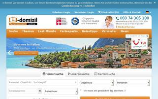 e-domizil Webseiten Screenshot