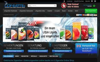e-zigarette-onlineshop.de Webseiten Screenshot