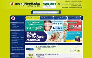 easyApotheke Webseiten Screenshot