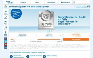 easycredit.de Webseiten Screenshot