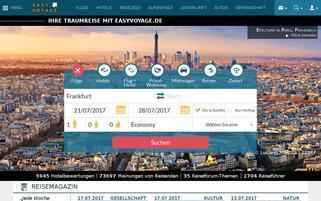 Easyvoyage Webseiten Screenshot