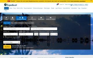 ebookers.at Webseiten Screenshot
