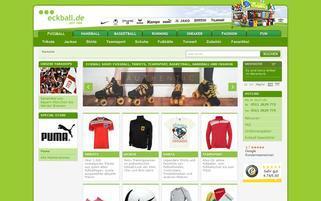 eckball Webseiten Screenshot