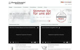 Eckstein BioKosmetik Webseiten Screenshot