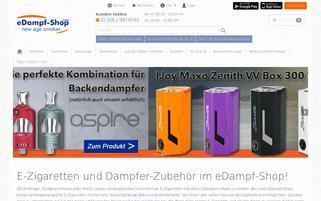 edampf-shop.com Webseiten Screenshot