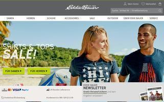 Eddie Bauer Webseiten Screenshot