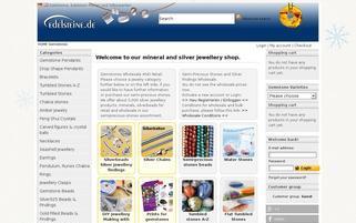 Edelsteine.de Webseiten Screenshot